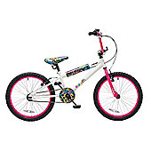 "Concept Graffiti 20"" Wheel Kids BMX Bike Single Speed White"
