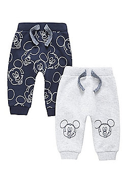 Disney 2 Pack of Mickey Mouse Joggers - Navy & Grey