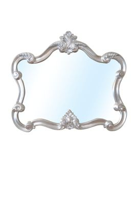 Beautiful Silver Decorative Shabby Chic Over Mantle Mirror 3Ft7 X 3Ft2