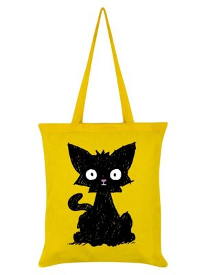 Scaredy Cat Tote Bag Yellow
