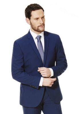 F&F Regular Fit Suit Jacket 44 Chest long length Cobalt