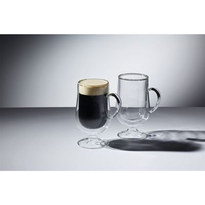 KitchenCraft Le'Xpress Insulated Double-Walled Irish Coffee Glasses, 275ml (Set of 2)