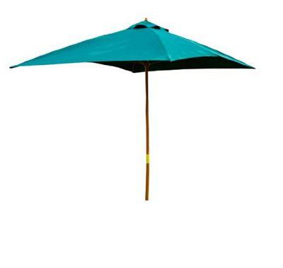 Outsunny 3m x 2m Wooden Parasol Outdoor Umbrella (Green)