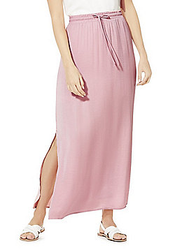 Vila Hammered Satin Maxi Skirt - Pink