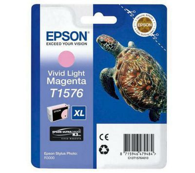 Epson Turtle T1576 Ink Cartridge - Vivid Light Magenta