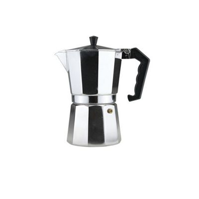 Apollo Housewares Coffee Maker, Continental Style Aluminium Made, Silver, 9 Cups (450 ml)