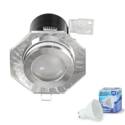 Fire Rated IP65 Hexagon LED GU10 Downlight - Cool White