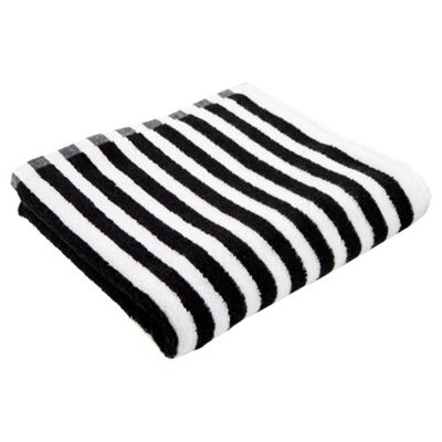 Buy Tesco Black White Stripe Hand Towel from our Hand Towels