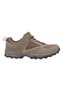 Mountain Warehouse Mens Shoes Suede & Mesh Upper with High Traction Outsole - Green
