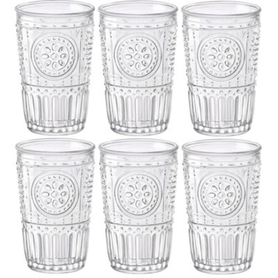 Bormioli Rocco Romantic Water / Juice Tumbler - Box Of 6 Glasses - 305ml (10.25oz)