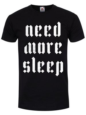 Need More Sleep Men's T-shirt, Black.