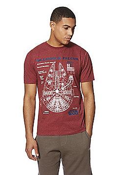 Star Wars Millenium Falcon T-Shirt - Red