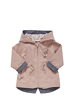 F&F Hooded Parka - Dusky pink