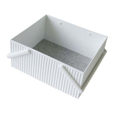 Hachiman Omnioffre Stacking Storage Box Large White