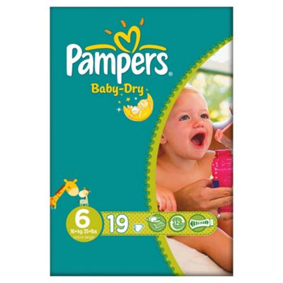 Pampers Baby Dry Size 6 Carry Pack - 19 nappies