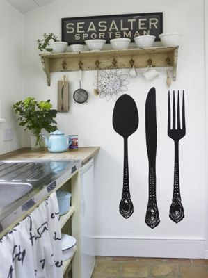 Giant Cutlery Wall Sticker Set