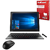 """Lenovo ThinkPad X1 12"""" Tablet Intel Core M7-6Y75 8GB 256GB SSD Win10 Pro Detachable keyboard with Internet Security & Mouse - 20GG003WUK"""