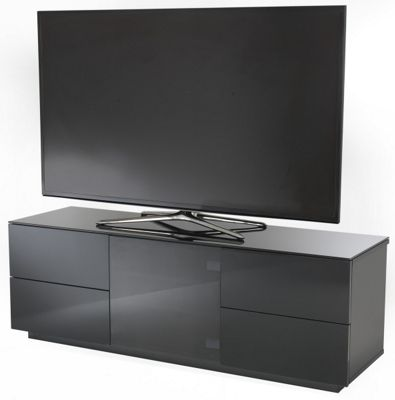 UK-CF Ultimate London Black High Gloss Black Cabinet For TVs up to 60 inch
