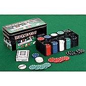 Professional 200 Piece Texas Hold'em Poker Casino Game Chips Set