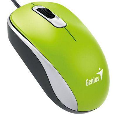 Genius DX-110 USB Optical 1000DPI Ambidextrous Green mice