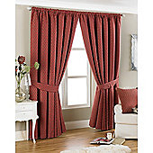 Riva Home Devere Pencil Pleat Curtains - Red