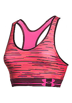 Under Armour HeatGear Armour Printed Womens Sports Bra - Pink