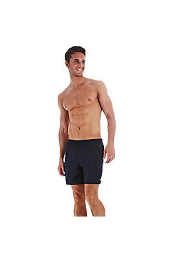 """Speedo Mens Solid Quick Drying Leisure 16"""" Water Shorts S M L XL XXL - Navy"""