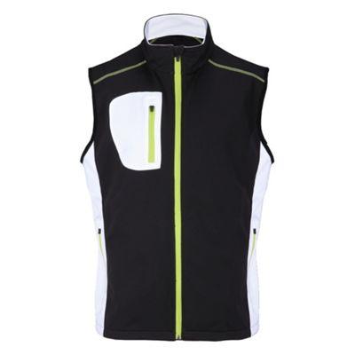 Woodworm Golf Full Zip Soft Shell Vest / Gilet Black/Neon 3Xl