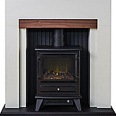 Adam Salzburg Stove Suite in Cream with Hudson Electric Stove in Black