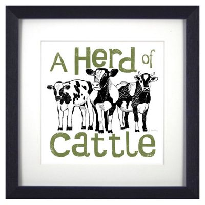 Buy Animal Friends Framed Print - Cattle from our Children\'s Wall ...