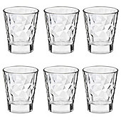 Bormioli Rocco Diamond Dimpled Clear Shot Glasses - 80ml - Pack of 6