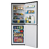 LEC Tall (Freezer Bottom) Fridge Freezer, TF5517B, Black