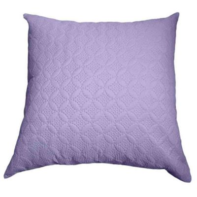 Homescapes Ultrasonic Mauve Quilted Embossed Cushion Cover, 80 x 80 cm