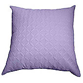 Homescapes Ultrasonic Mauve Quilted Embossed Filled Cushion, 80 x 80 cm