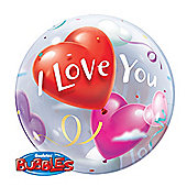 I Love You Bubble Balloon - 22 inch