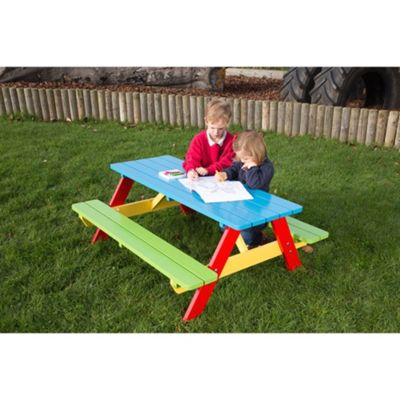 BrackenStyle Painted Pre-School A Frame Picnic Table - 3-5 Years
