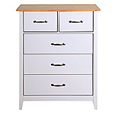 Steens Norfolk 2+3 Chest of Drawers Grey/Oak