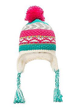 Mountain Warehouse Patterned Stripe Knit Kids Hat - Pink