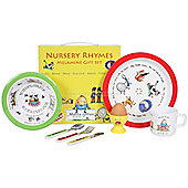 Children's Melamine Dinner Set 7 pc - Nursery Rhyme