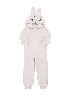 F&F Hooded Bunny Onesie - Pink