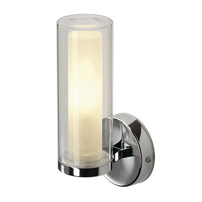 Wall Lamp Light Chrome Double Glass Max. 40W