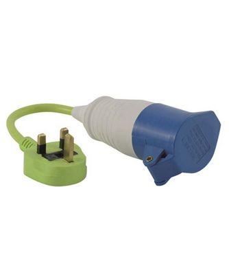 Outwell Conversion Lead Plug UK Green Plug