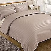 Brentfords Satin Stripe Duvet Cover Bedding Set, Mink - Mink