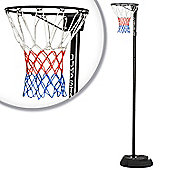 10ft Adjustable Netball Stand and Hoop