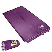 Trail 5cm Double Self-Inflating Camping Mat - Purple