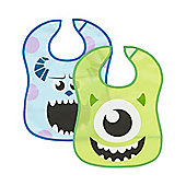 B Baby's Monsters Inc. Crumbcatcher Bibs- 2 Pack