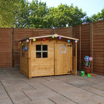 5 x 5 Sutton Apex Playhouse With Overhang (5ft x 5ft)