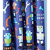 Catherine Lansfield Robots Eyelet Curtains 66 x 72-Inch