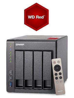 QNAP TS-451+-2G/12TB-RED 4-bay 12TB(4x3TB WD RED) High-performance Intel quad-core NAS