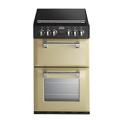 Stoves 55DFW Dual Fuel Cooker with 65 Litre Main Fan Oven in Champagne